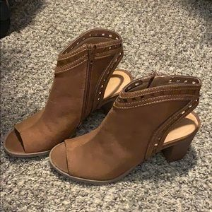 Brand New Maurices Peep Toe Booties